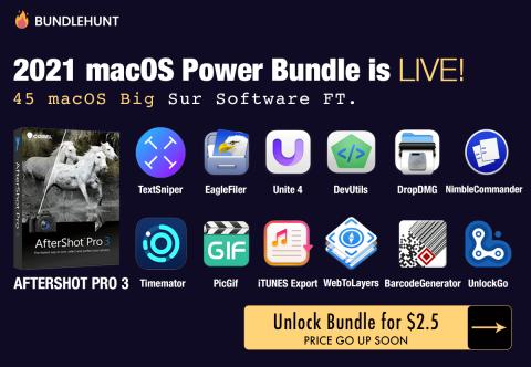"2021 macOS Power Bundle! 49 ""Big Sur"" Compatible macOS Apps from Bundlehunt"